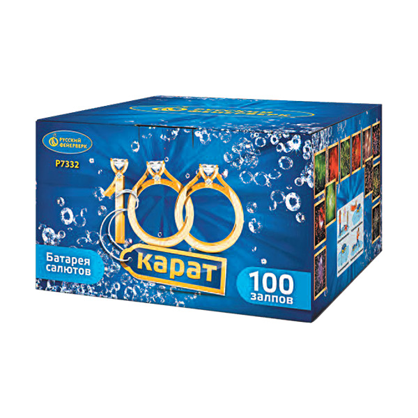 Батарея салютов P7332 100 карат